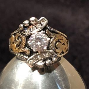 Bob Berg Jewelry - 💥New Gorgeous Bob Berg Stamped CZ .925 & 10K Ring